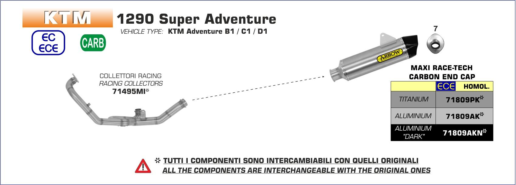 Terminale Maxi Race-Tech titanio con fondello carby -